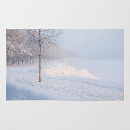 Snowy Walk. Rug