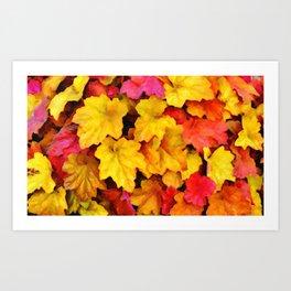 Fallen autumn leaves Art Print