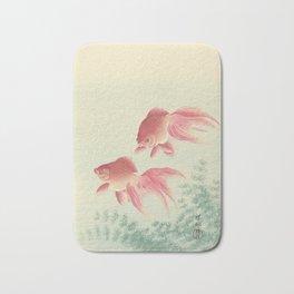 Goldfish Vintage Japanese Woodblock Print Bath Mat