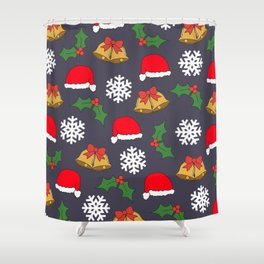 Jingle Bells Christmas Collage Shower Curtain