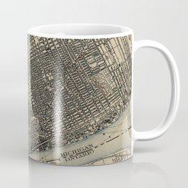 Vintage Map of Detroit Michigan (1904) Coffee Mug