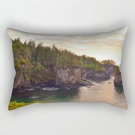 Sunset at Cape Flattery, Washington, Olympic Peninsula, Monolith, Pacific Ocean, Islands Rectangular Pillow