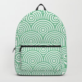 Scales - Green & White #353 Backpack