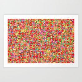 Rhythmic cloud 12 Art Print