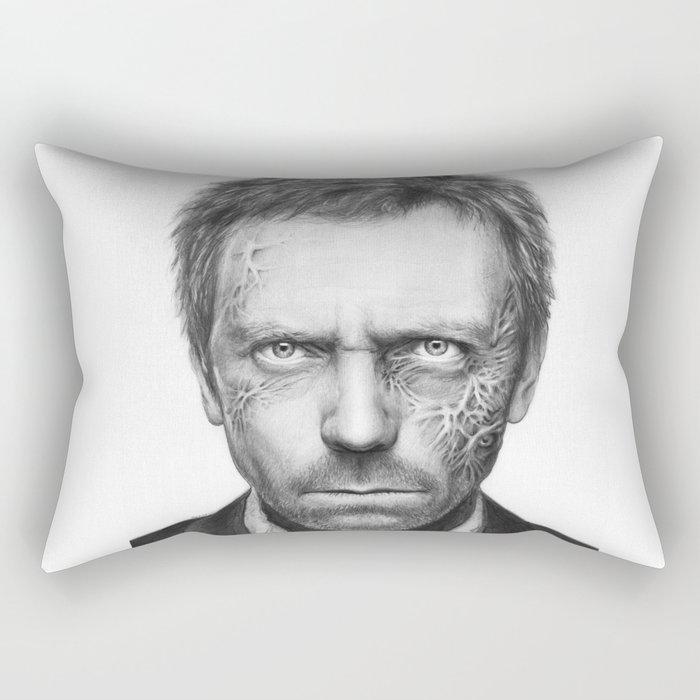 House MD Zombie Portrait Hugh Laurie Rectangular Pillow