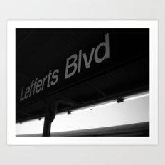 Lefferts Blvd Art Print