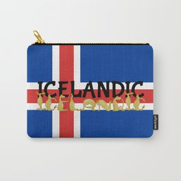 Icelandic Horses Cartoon Carry-All Pouch