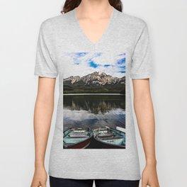 Pyramid Lake Unisex V-Neck