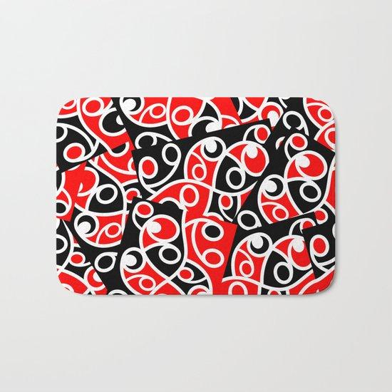Maori Kowhaiwhai Patchwork Pattern Bath Mat