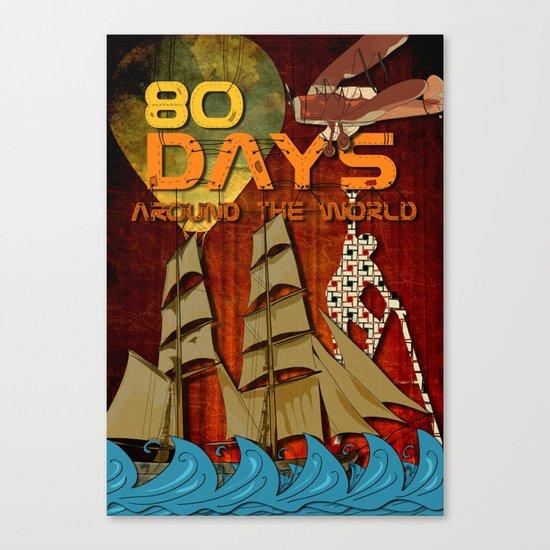 80 Days Canvas Print