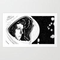 ripley Art Prints featuring Ripley by Molly Kiely