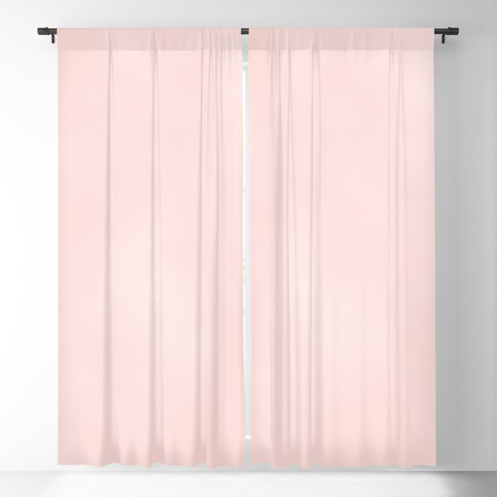 Blush Pink Coral Blackout Curtain