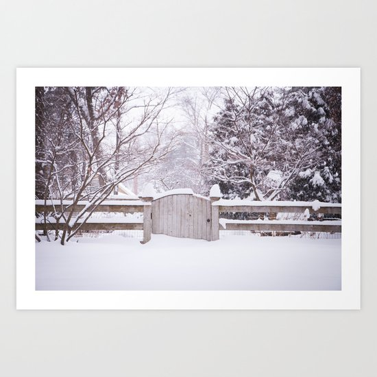 Snow Gate  Art Print