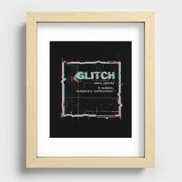 Glitch Recessed Framed Print