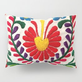 Red Mexican Flower Pillow Sham