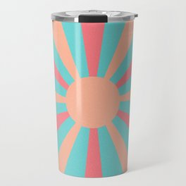 pink and peach sunshine Travel Mug