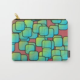 Emerald colored squares Carry-All Pouch