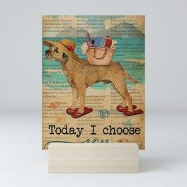 Bible Beach Life Joy Border Terrier dog gift Mini Art Print