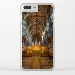 Lichfield cathedral inside Clear iPhone Case