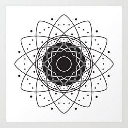 Elegant Singularity ~ Black Art Print