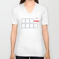 periodic table V-neck T-shirts featuring The Big (Bang) Periodic Table by Boots