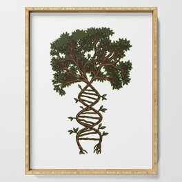 Nature Is My DNA | Tree Roots Forest Earth Day Serving Tray