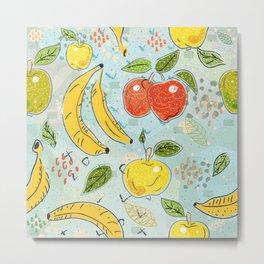 Apples and Bananas Metal Print