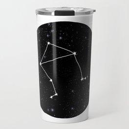 Libra minimal constellation star sign zodiac art print Travel Mug