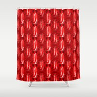 coke Shower Curtains featuring Coca Cola - Coke - Superstar - Pop Art Pattern by William Cuccio aka WCSmack