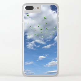 Lyme Green Balloon Launch - Ticks :( Clear iPhone Case