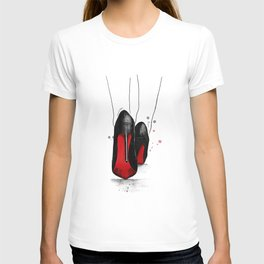 The higher the heel the closer to heaven T-shirt