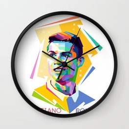 Cristiano Ronaldo In Pop Art Wall Clock