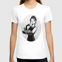 tiffany T-shirts featuring breakfast with Tiffany by C. Cassandra
