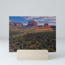 Bell Rock Courthouse Butte of Sedona Panorama Mini Art Print