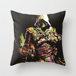 Assassin's Creed In Anomali WPAP Throw Pillow
