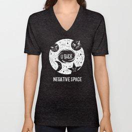 Negative Space Unisex V-Neck