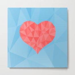 Irreducible Heart Metal Print