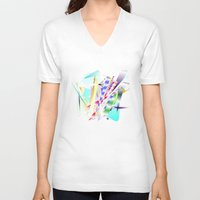 band V-neck T-shirts featuring Jazz Band by Nancy Smith
