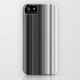 Black White Gray Thin Stripes iPhone Case