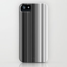 Black White Gray Thin Stripes iPhone Case