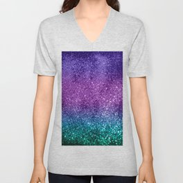 Unicorn Girls Glitter #10 #shiny #decor #art #society6 Unisex V-Neck