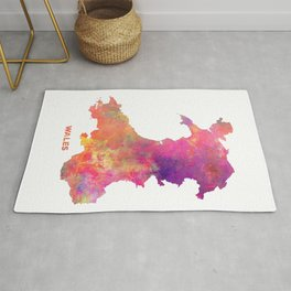 Wales map #wales #map Rug