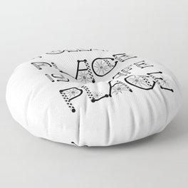 A Clean Place Is A Safe Place Virus Awareness Design Floor Pillow