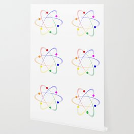 LGBT Whirling Atoms Wallpaper