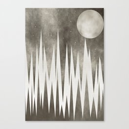 Moonlight And The Stars Canvas Print