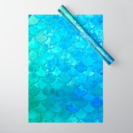 Summer Dream Colorful Trendy Mermaid Scales Wrapping Paper