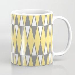 Mid Century Modern Diamond Pattern Yellow and Gray 232 Coffee Mug