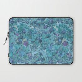 Watercolour Daisies Blue Amanya Design Laptop Sleeve
