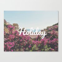 holiday Canvas Prints featuring Holiday by Laure.B