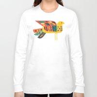 mid century Long Sleeve T-shirts featuring Century Bird by Picomodi